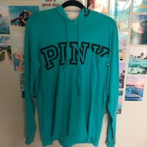 victoria secret PINK blue long sleeve with hood